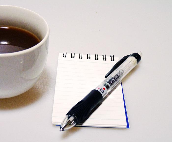 コーヒーとペンとメモ帳その2の拡大写真