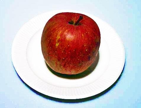赤い果物のリンゴその2の拡大写真