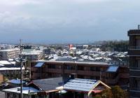 雪が降った後の町の風景