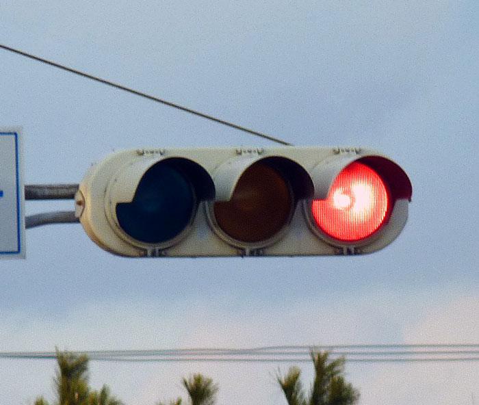 信号機(赤)の拡大写真