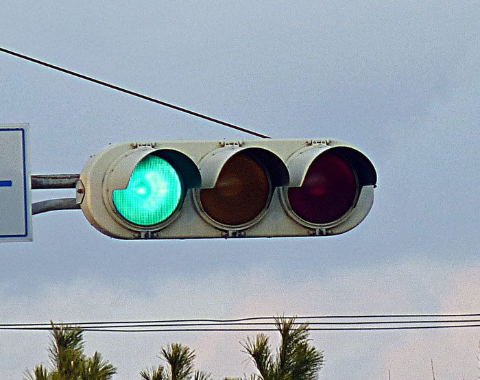信号機(青)の拡大写真