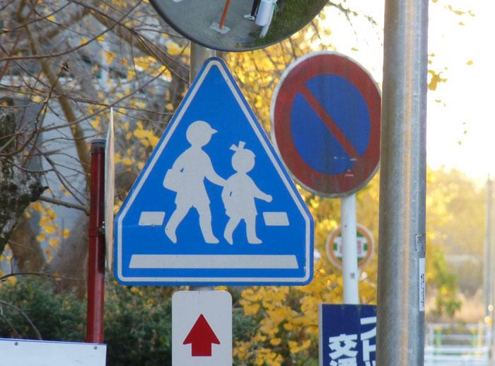 道路標識(横断歩道)の拡大写真