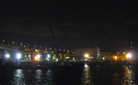 夜景(橋と町の明かりと海)その2