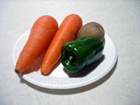 野菜(ニンジンとジャガイモとピーマン)その2