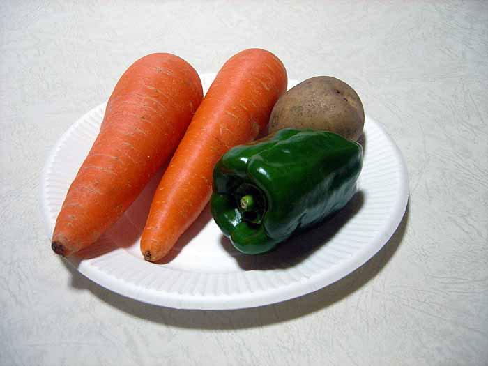 野菜(ニンジンとジャガイモとピーマン)その2の拡大写真